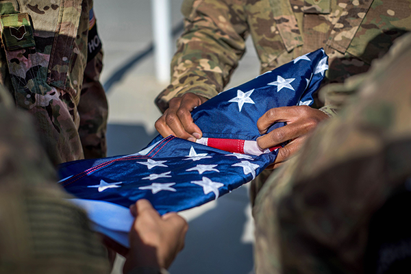 Vacaville Veterans 13 Folds Flag
